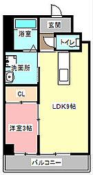 ゴールドサークル小松II[3階]の間取り