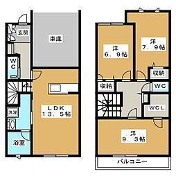 GテラスBuono[2階]の間取り