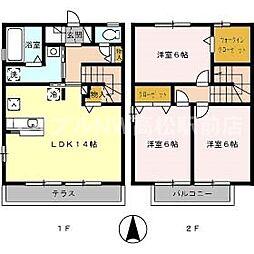 [テラスハウス] 香川県高松市飯田町 の賃貸【/】の間取り