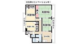 愛知県名古屋市緑区横吹町の賃貸マンションの間取り