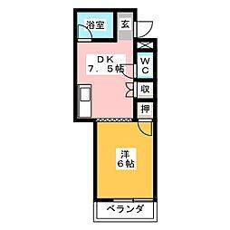 メゾングリーン[1階]の間取り