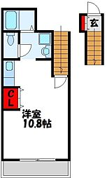 福岡県宗像市大井台の賃貸アパートの間取り