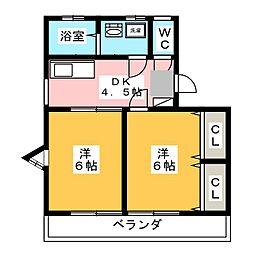 エムワイハイツ[2階]の間取り