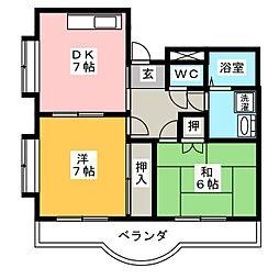 パラサンピア I[6階]の間取り