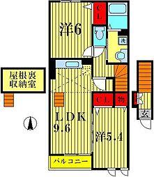 オークヒルズIII[2階]の間取り