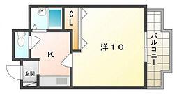 セブンスヒルII[4階]の間取り