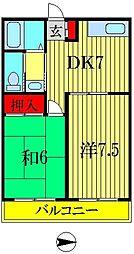 エイブルマンション[2階]の間取り
