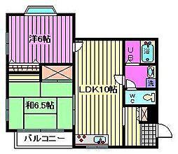 ロイヤルクレスト北浦和[2階]の間取り