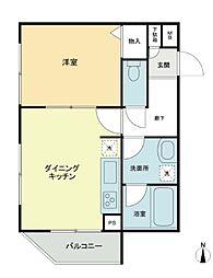 神奈川県横浜市南区前里町3丁目の賃貸マンションの間取り