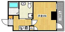 阪急神戸本線 王子公園駅 徒歩4分の賃貸マンション 4階1Kの間取り