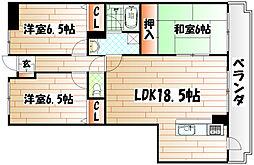 ラクシャリー八重洲[4階]の間取り