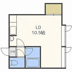 ローヤルハイツ南5条[3階]の間取り