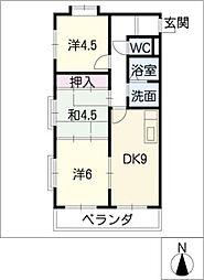 THE TOKUGETU 20[2階]の間取り