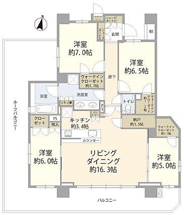 5階角部屋、1...