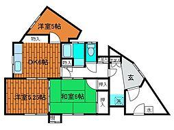 本町アパート[1階]の間取り