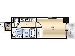 レジュールアッシュ大阪城ノルド[9階]の間取り