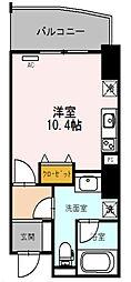 Osaka Metro四つ橋線 西梅田駅 徒歩3分の賃貸マンション 10階1Kの間取り