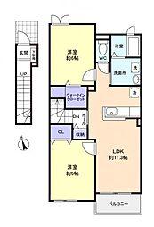 ジェルメIII[2階]の間取り