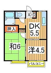 CAT HOUSEハイライズタケヤマ[2階]の間取り