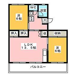 第一関ビル[5階]の間取り