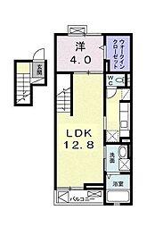 クレール茅ヶ崎[4階]の間取り
