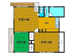 厚井ビル[2階]の間取り
