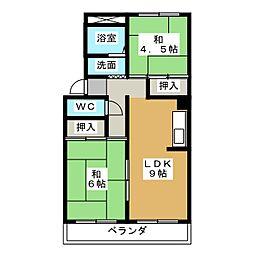Prejeur A棟[1階]の間取り