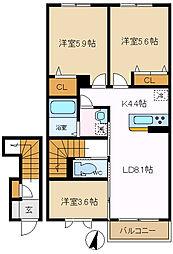 ミーラービレ 205[2階]の間取り