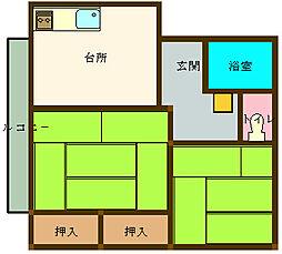 広島県呉市広白岳2丁目の賃貸アパートの間取り