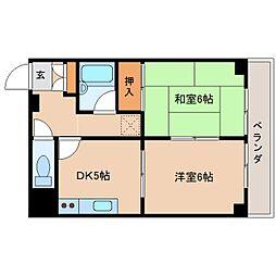 奈良県奈良市北之庄町の賃貸マンションの間取り