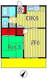 第3ドリームコーポ[205号室]の間取り