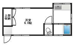 ハイムヨコヤマ[101号室]の間取り