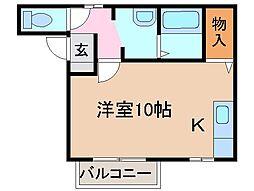 静岡県静岡市清水区蒲原2丁目の賃貸アパートの間取り