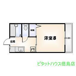 フレグランスYOSHIDA[203号室]の間取り