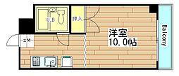 奥内西本町マンション[7階]の間取り