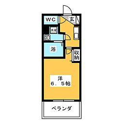 PRIME NEXUS 京急鶴見 6階1Kの間取り