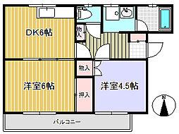 コンフォートハウス[5階]の間取り