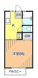 東京都小平市花小金井6丁目の賃貸アパートの間取り