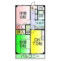 CASA OKUNO[4階]の間取り