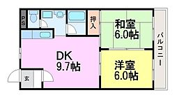 兵庫県尼崎市額田町の賃貸マンションの間取り
