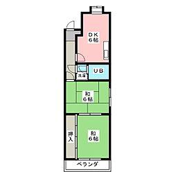 サンハイツナカヰ[4階]の間取り