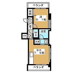 サングランデ[3階]の間取り