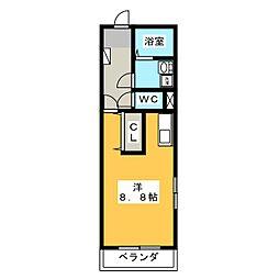 レフィナード[1階]の間取り