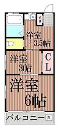 東京都大田区大森西2丁目の賃貸マンションの間取り
