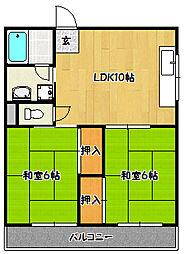 兵庫県神戸市兵庫区上祇園町の賃貸マンションの間取り