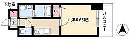 第18金山フクマルビル 10階1Kの間取り