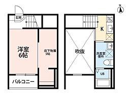 Jeunesse新守山(ジュネス新守山)[202号室]の間取り