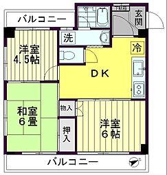 三栄マンション[303号室]の間取り
