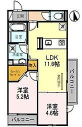 (仮称)D-room関目[1階]の間取り