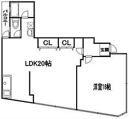 大産美野島ビル[5階]の間取り